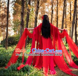 Asian Red Fairy Costumes Complete Set