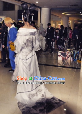 Chinese Classical Hanfu Guzhuang Dresses Complete Set