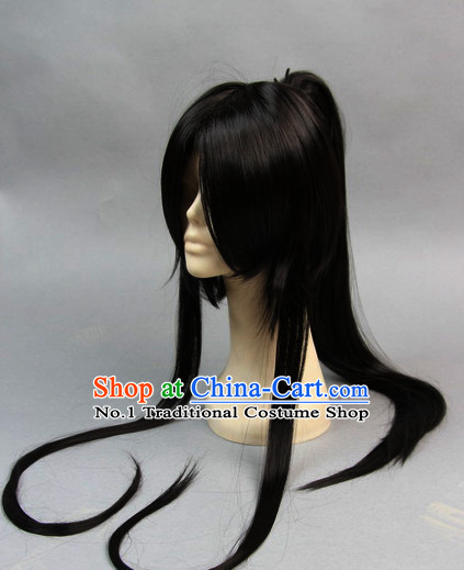 Chinese Traditional Black Hair Pieces for Men