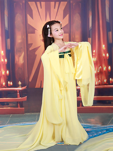 Chinese Imperial Maid Costumes and Accessories for Girls Halloween Asian Fashion Ancient China Hanfu