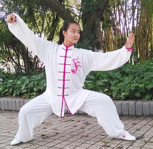 Embroidered Phoenix Kung Fu Pants and Blouse Complete Set for Women
