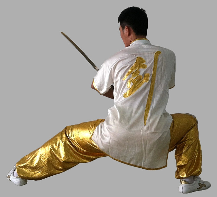 Short Sleeves Sword Chinese Character Kung Fu Uniforms