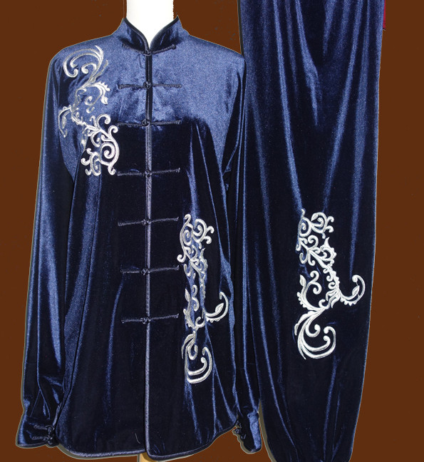Winter Wear Velvet Wing Chun Kung Fu Wooden Dummy Practice Suit
