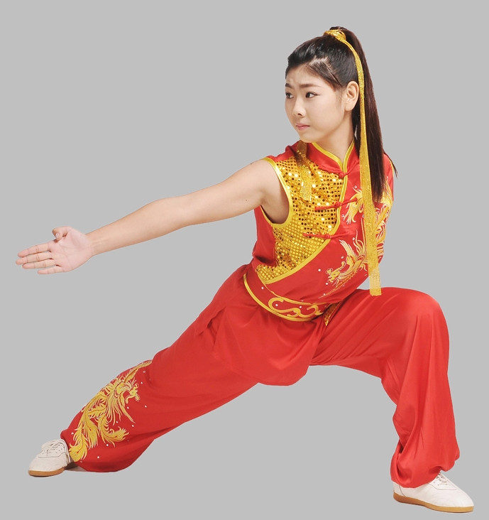 Top China Red Dragon Embroidery Martial Arts Suit