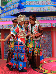 China Miao Carnival Costumes Dance Costumes Traditional Costumes