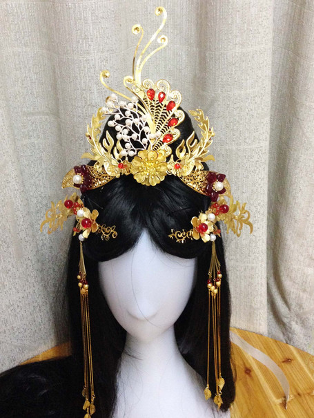 Chinese Empress Phoenix Hair Accessories Comb Fascinators Headbands Bridal Headpieces