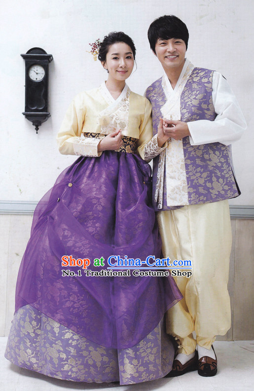 Korean Traditional Dress Hanboks for Couple