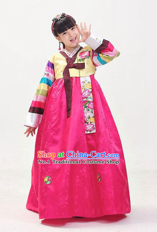 Traditional Korean Clothing Custom Made Girls Hanbok for Birthday