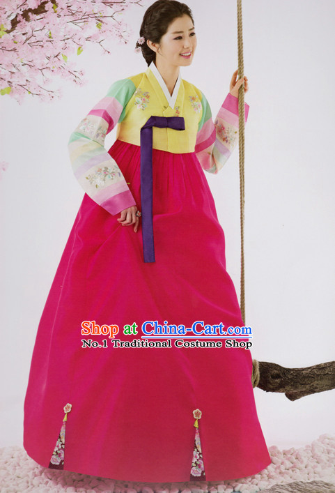 Korean Traditional Clothing Custom Made Women Dangwi Hanbok for Birthday Party Halloween