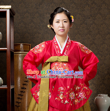Korean Custom Made Dangui Hanbok Dresses for Women