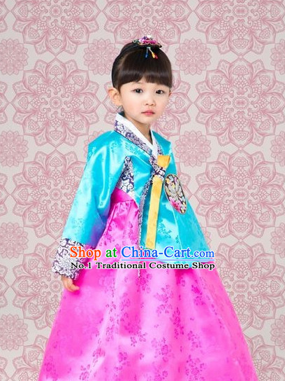 Korean Traditional Dangui Custom Made Hanbok Outfit for Kids