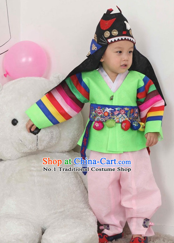 Korean Traditional Ceremonial Cloth of Prince Birthday Ceremonial Hanbok for Kids