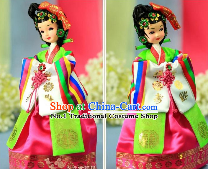 Korean Traditional Dancer Statue Arts