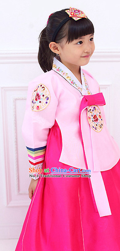 Korean Princess Traditional Birthday Hanbok Clothing Dress online Kids Clothes Designer Clothes