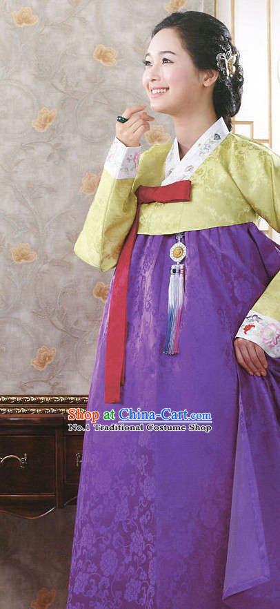 Top Korean Traditional Hanbok Dresses Complete Set for Women