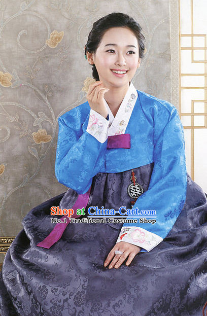Top Korean Traditional Hanbok Clothing Complete Set for Women