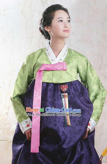 Top Korean Fashion Traditional Hanbok Clothing Complete Set for Women