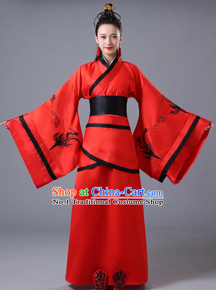 7dcd2423915 Chinese Lucky Red National Costumes for Women