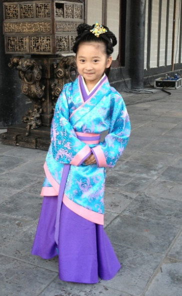 Ancient Chinese Hanfu Dress Complete Set for Kids