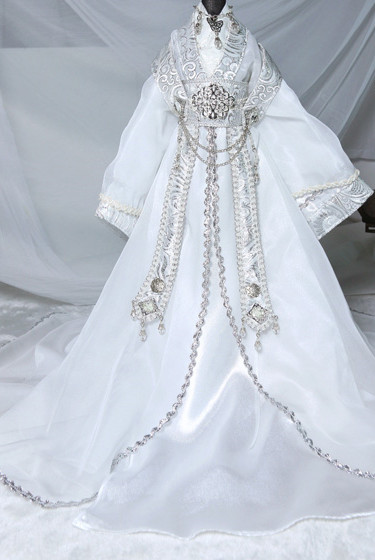 Asian Fashion Chinese White Wedding Dress for Men