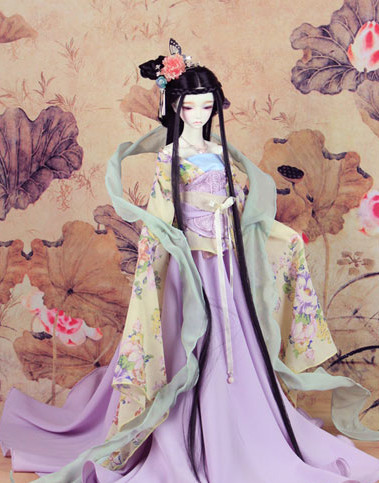 Asian Princess Halloween Costumes and Hair Ornaments Complete Set