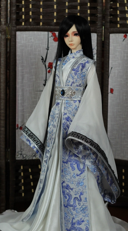 Asian Fashion Chinese Dragon Gown for Men