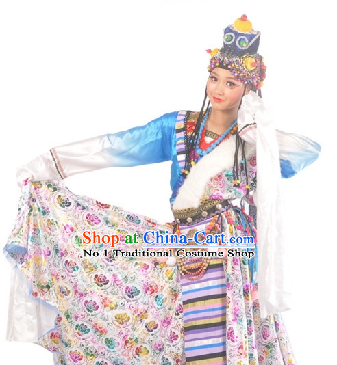 China Tibetan Girls Dancewear Dance Costumes Complete Set for Women