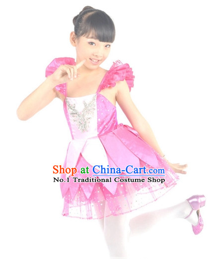 China Kids Dance Costumes Ballerina Costume Burlesque Costumes Salsa Costumes
