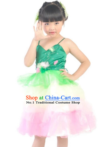 Custom Made China Kids Dance Costumes Ballerina Costume Burlesque Costumes Salsa Costumes