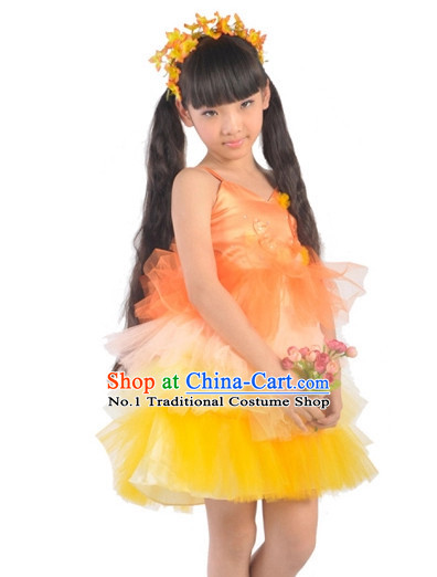 Custom Made Kid Dance Costumes Ballerina Costume Burlesque Costumes Salsa Costumes