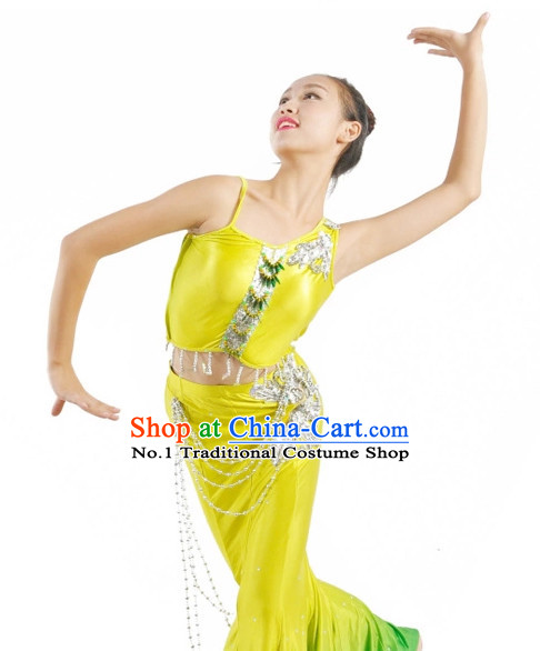 Custom Made Chinese Dai Group Dance Costumes Team Dance Costumes for Women