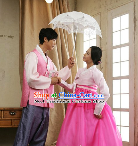 Korean Couple Special Day Hanbok Dresses Complete Set for Men and Women
