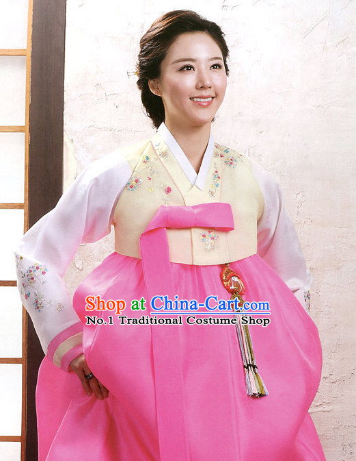 Korean Traditional Mother of the Bride Dresses Hanbok Clothing Complete Set