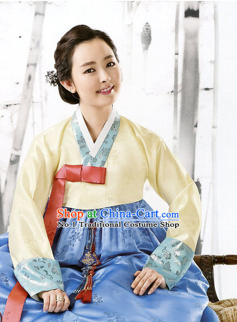 Korean Traditional Mother of the Bridegroom Dresses Hanbok Clothing Complete Set