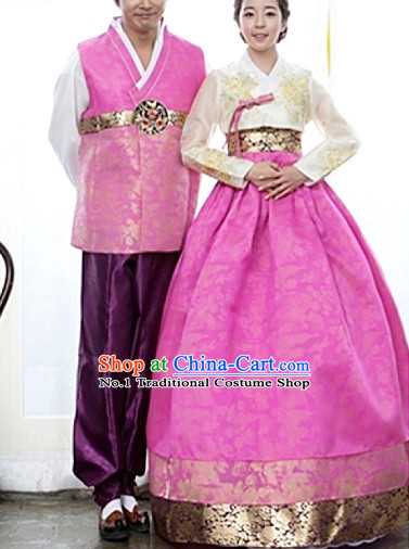 Top South Korean Hanbok Wedding Dresses Complete Set for Couples