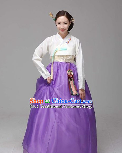 Top South Korean Beauty Hanbok Clothing Dresses Complete Set
