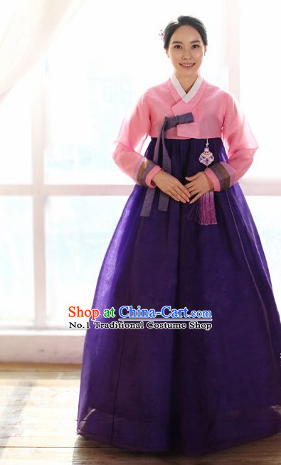 Long Sleeves South Korean Children Hanbok Clothing Dresses Complete Set