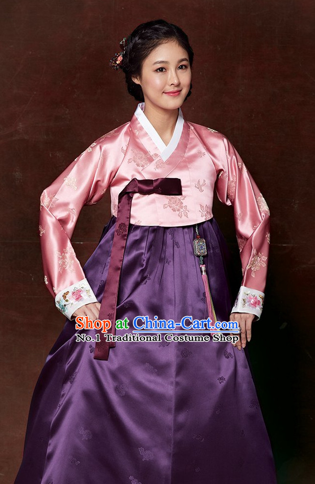Traditional Korean Female Hanbok Suit Complete Set