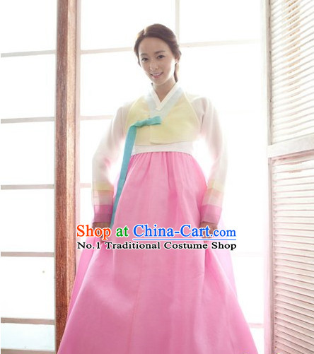 Korean Women Fashion Traditional Hanbok Wedding Dresses Complete Set