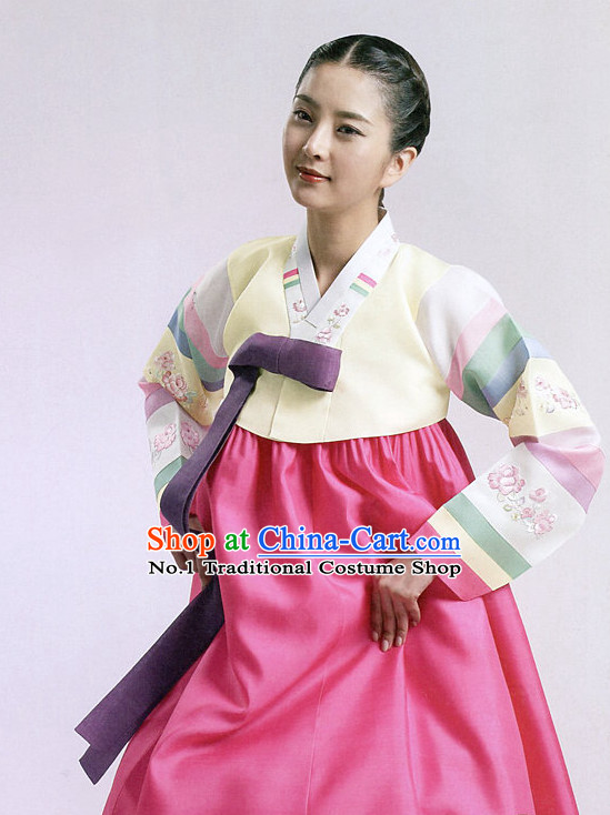 Korean Women Fashion Traditional Hanbok Suit Complete Set