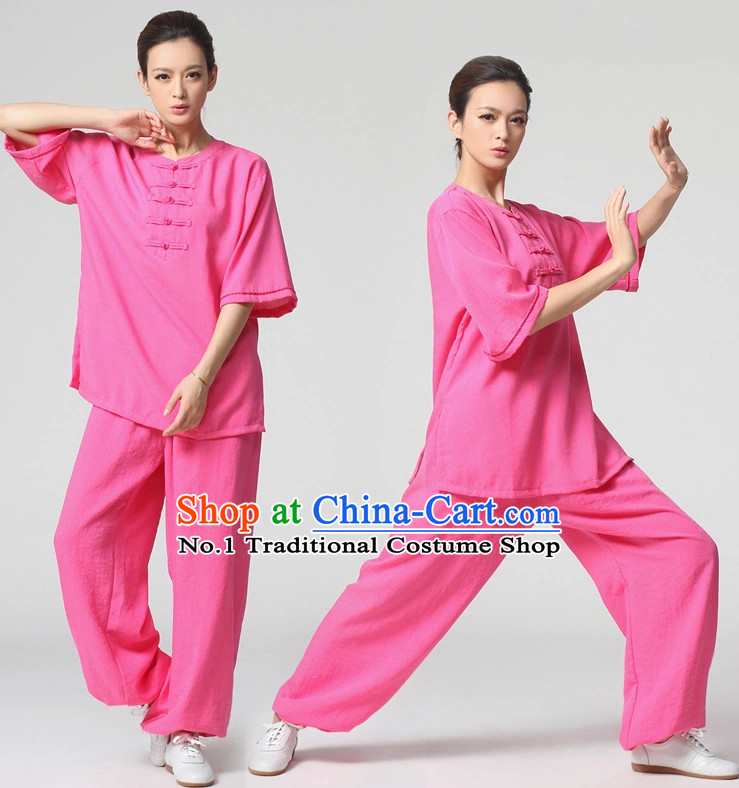 Top Asian China Tai Ji Short Sleeves Uniform for Women