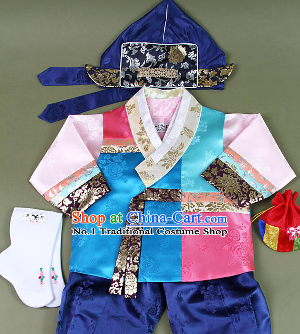 Top Korean Hanbok National Costumes Complete Set for Kids