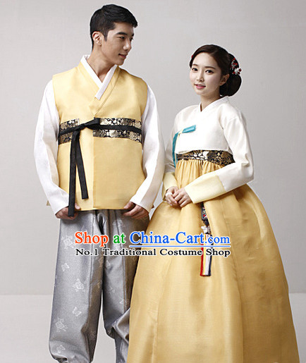 Top Korean Traditional Couple Hanbok National Costumes Complete Set