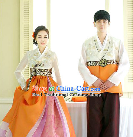 Top Korean Bridal Couple Clothing Complete Set for Men and Women