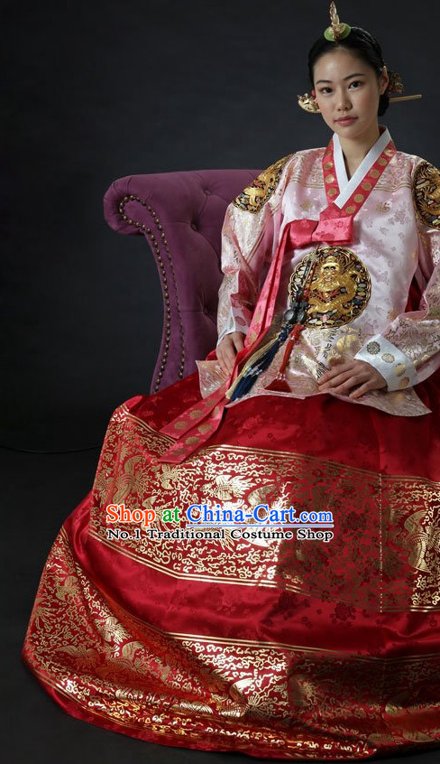 Top Korean Dangui Imperial Royal Hanbok Clothing for Women