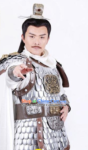Chinese Tang Dynasty General Armor Costume Asia fashion China Civilization for Men