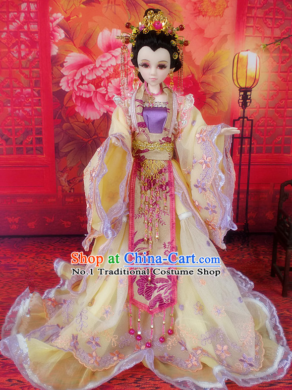 China Civilization Chinese Princess Clothes and Hair Jewelry Complete Set for Women