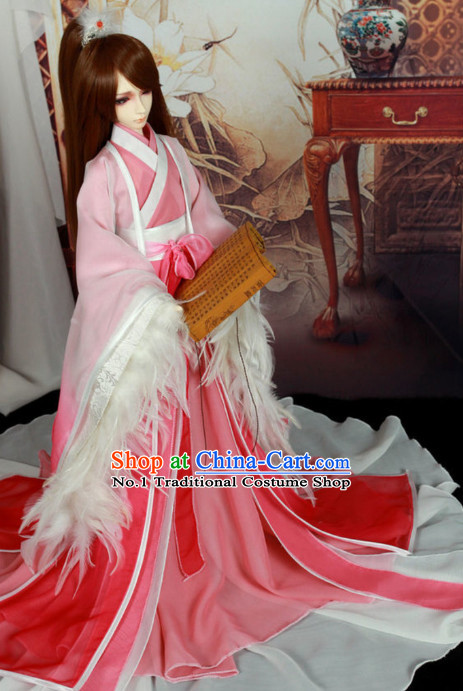 China Civilization Chinese Kimono Costume and Hair Jewelry Complete Set for Women