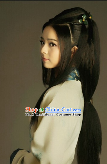 Chinese Traditional Style Long Black Wig