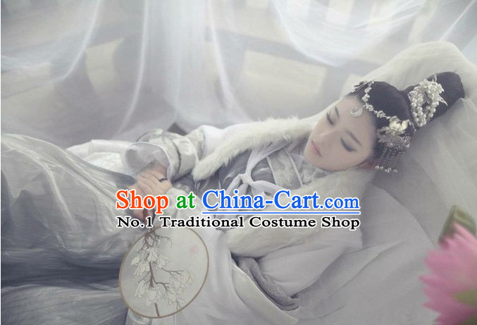 Asian Fashion Chinese Empress Sexy Halloween Costumes Complete Set for Women